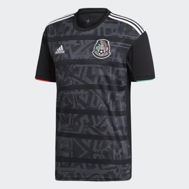 Camiseta primera equipación México Negro Hombre Fútbol