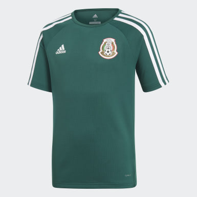 Playera Titular Réplica Selección Nacional de México Verde Niño Fútbol