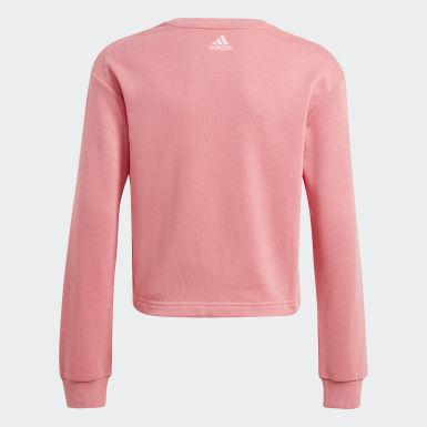 Girls Sport Inspired Pink adidas Essentials Logo Sweatshirt