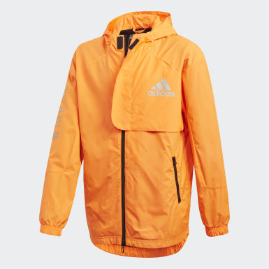 Boys Training Orange WIND.RDY Windbreaker
