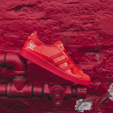 Men's Originals Red Chicago Girls Do It Better Superstar Shoes