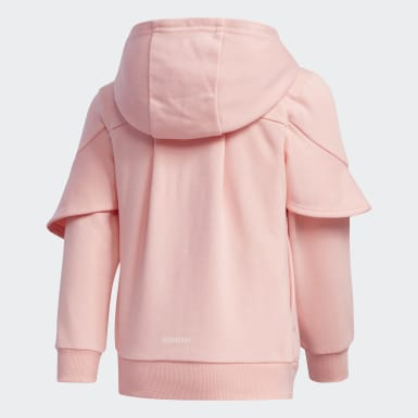 Polera con capucha Felpa Francesa Style Rosado Niña Training