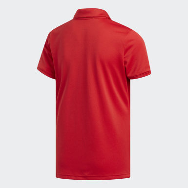 Youth Golf Red Tournament Polo Shirt