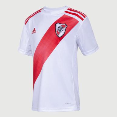 Camiseta Titular River Plate sin Sponsor Blanco Niño Fútbol