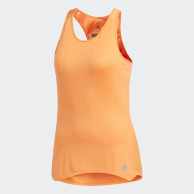 Playera Response Cup Tank Naranja Mujer Running
