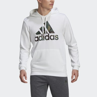 Männer Athletics Essentials Camouflage Hoodie Weiß