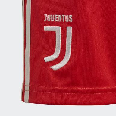 Boys Football Burgundy Juventus Away Shorts