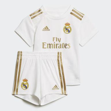 Miniconjunto Uniforme Titular Real Madrid Blanco Niño Fútbol