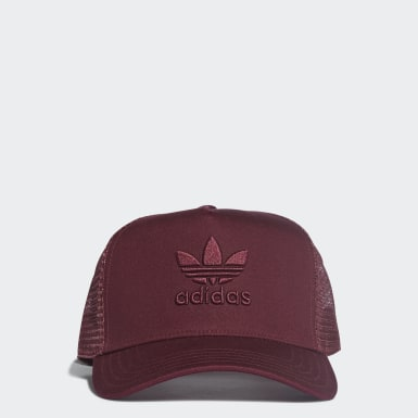 Originals Burgundy Trefoil Trucker Cap