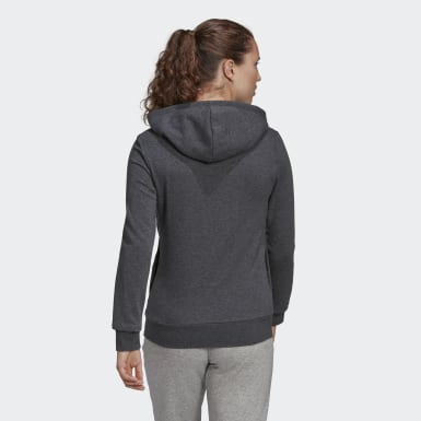 Felpa con cappuccio Essentials Linear Pullover Grigio Donna Athletics