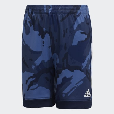 Children Training Blue AEROREADY Core Camo Shorts