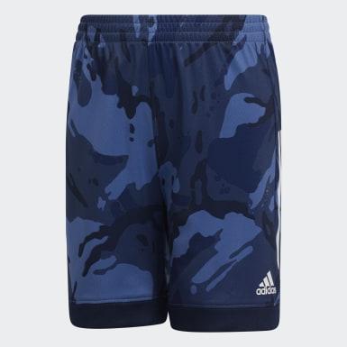 Children Training Blue AEROREADY Core Camo Shorts