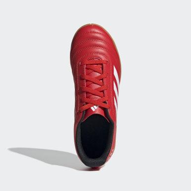Calzado de Fútbol Copa 20.4 Cancha Cubierta Rojo Niño Fútbol
