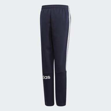 Boys Training Blue 3-Stripes Joggers