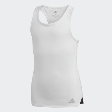 Camisola de Alças Club Branco Raparigas Tênis De Padel