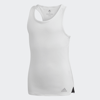 Girls Padel Tennis White Club Tank Top