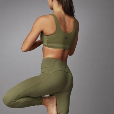 ผู้หญิง เทรนนิง สีเขียว บรา Cozy Yoga