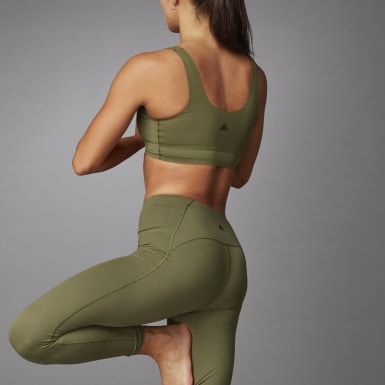 Kvinder Løb Grøn Cozy Yoga bh
