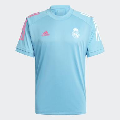Männer Fußball Real Madrid Trainingstrikot Türkis