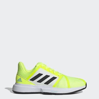 Men's Tennis Yellow CourtJam Bounce Shoes