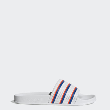 Men's Originals White Adilette Slides