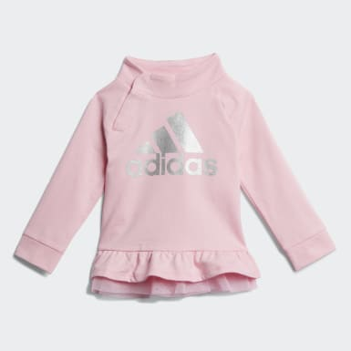 Infant & Toddler Training Pink French Terry Sweatshirt and Joggers Set