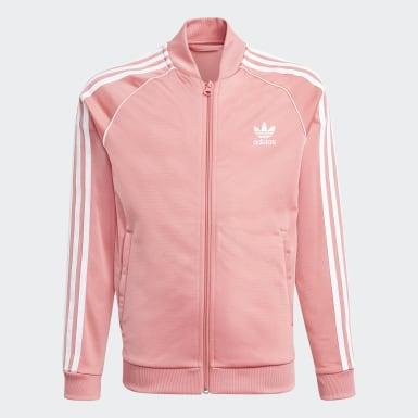 Děti Originals růžová Sportovní bunda Adicolor SST