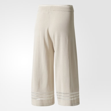 Pants Culotte Beige Mujer Originals