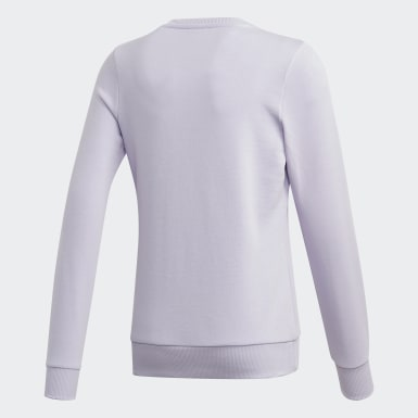 Blusa Moletom Linear Roxo Kids Training