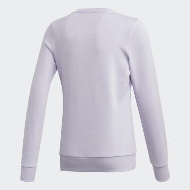 Girls Training Purple Linear Sweatshirt