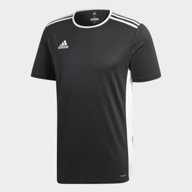 ผู้ชาย ฟุตบอล สีดำ เสื้อฟุตบอล Entrada18