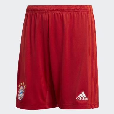 Jungen Fußball FC Bayern München Heimshorts Rot