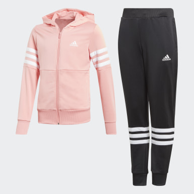 Youth 8-16 Years Training Pink Hooded Tracksuit