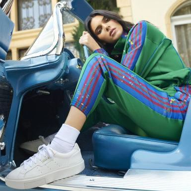 белый Кроссовки adidas Sleek