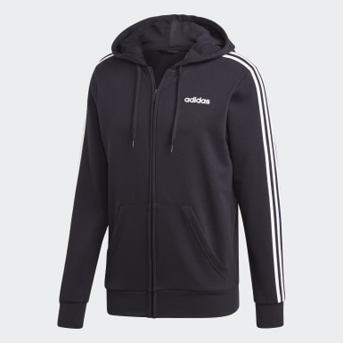 Men Lifestyle Black Essentials 3-Stripes Track Jacket
