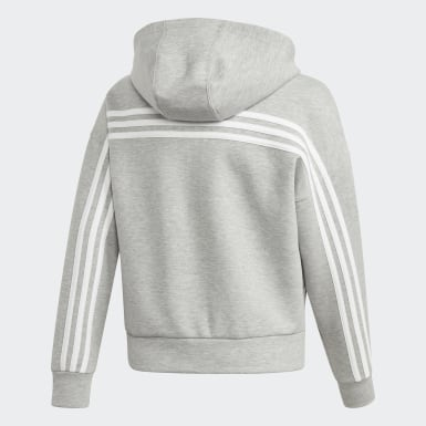Felpa con cappuccio Must Haves 3-Stripes Grigio Ragazza Training