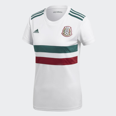Jersey Oficial Selección de México Cuello Redondo Visitante Mujer 2018