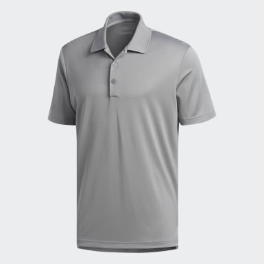 Men Golf Grey Performance Polo Shirt