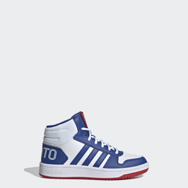 Kids Sport Inspired White Hoops 2.0 Mid Shoes