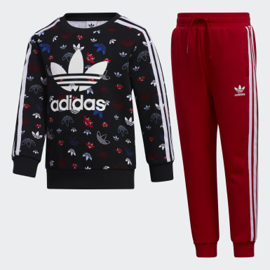 Boys Originals Svart Crew Set