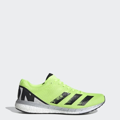 Men Running Green Adizero Boston 8 Shoes