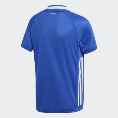 Maglia Replica Handball France Blu Ragazzo Pallamano