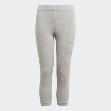 Mädchen Athletics adidas Essentials Logo 7/8-Tight Grau