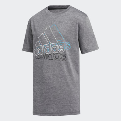 Youth Training Grey AEROREADY Layered Line Badge of Sport Tee