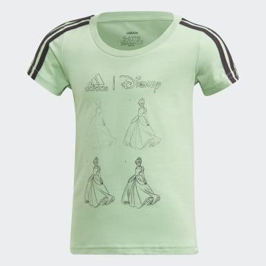Polera Disney Verde Niña Sport Inspired