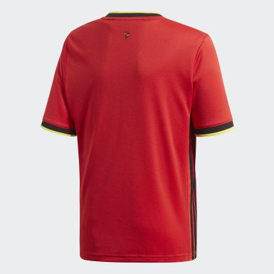 RBFA H JSY Y Vermelho Meninos Futebol