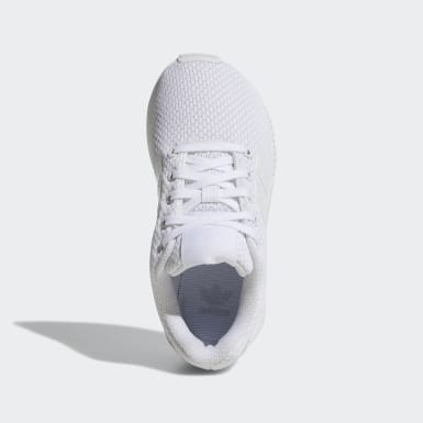 Kids 4-8 Years Originals White ZX Flux Shoes
