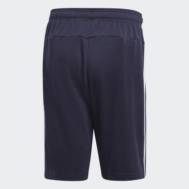 ผู้ชาย โยคะ สีน้ำเงิน กางเกงผ้าเฟรนช์เทอร์รีย์ขาสั้น Essentials 3-Stripes