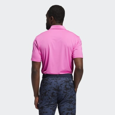 Men Golf Pink Ultimate365 Solid Polo Shirt