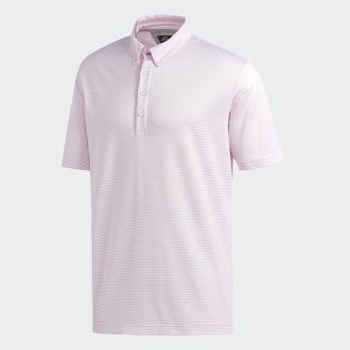 Mænd Golf Pink Adipure New Ottoman polotrøje